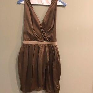 Bebe Chocolate Halter Mini Dress